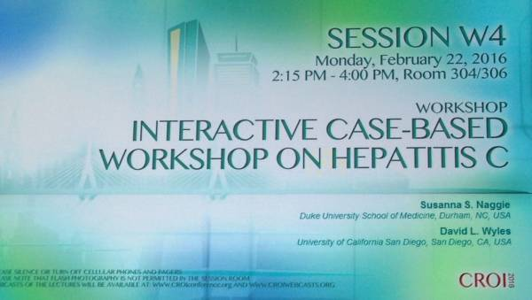 CROI 2016 Case-based workshop on HCV